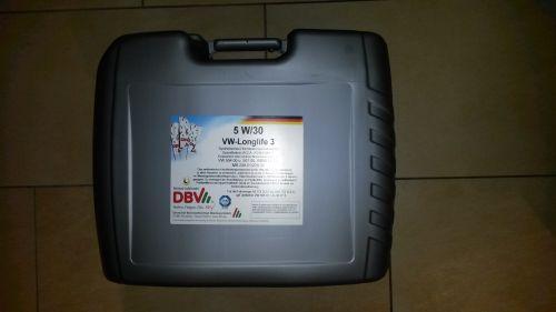 dbv vw longlife 3 5w 30 1 x 20 ltr juing oil webshop. Black Bedroom Furniture Sets. Home Design Ideas